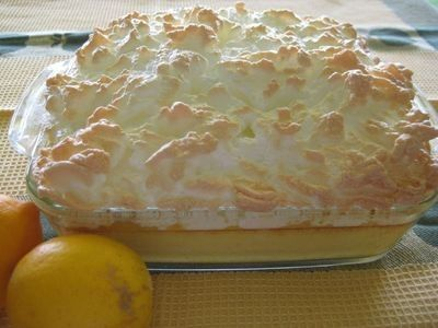 Lemon Crumb Meringue Pudding