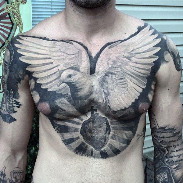 Fotos de Tatuagem de Pomba para Homens | Fotos de Tatuagens