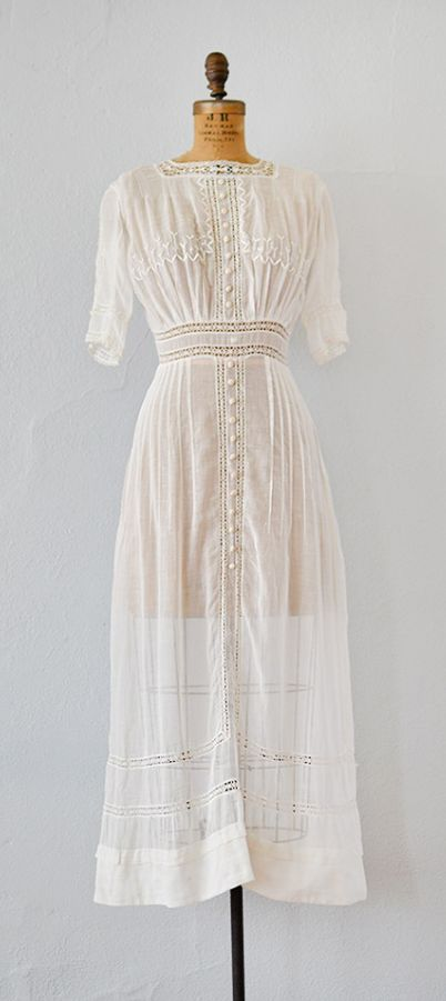 Meadow at Bezons Dress | antique 1910s Edwardian dress by Adored Vintage #antiquedress #1910s #vintage