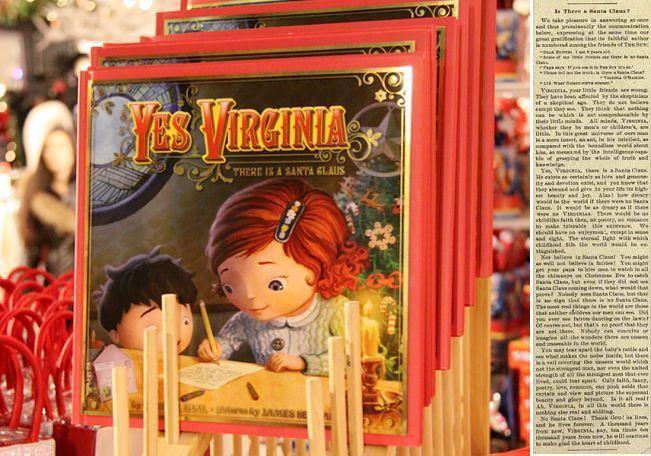 『クリスマスまで1ヶ月を切りました・・・』 アメリカで・・・超有名なお話を1つ!(^^) ご存知の方も沢山いると思いますが。。。 Yes, Virginia, there is a Santa Claus.(バージニアちゃん、サンタクロースはいるんだよ)  今から110年以上前の1897年に、8歳の女の子から「サンタさんはいるの?」と質問の手紙に新聞社の記者さんが社説で答えたという歴史に残る名文は、今も受け継がれているんですね。 たぶん、世界で一番有名な社説じゃないかと思います。すごい名文。成長したバージニアちゃんは、その後、ニューヨーク市内にあるHunter Collegeを21歳で卒業すると、 Columbia大学の大学院で修士号を取得し、1912年から教壇に立つ先生となりました。最終的には校長先生にまでなり、47年も教育者として活躍しました。1971年5月、81歳で生涯を終えるまで、彼女はこの8歳のときに書いた手紙のことを知った人々から手紙を受け続け、そのお返事には必ずFrancis P. Churchさんの書いたこの社説のコピーを添付していたそうです。
