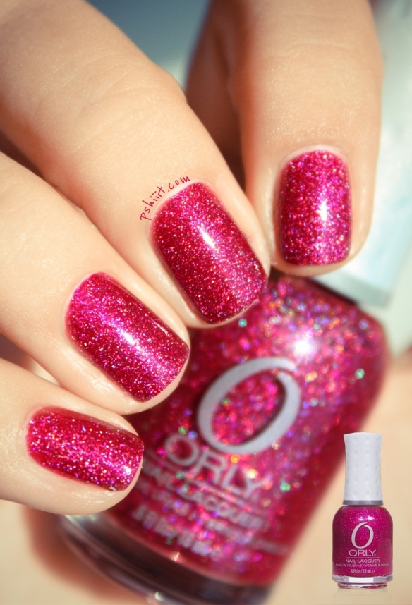 miss conduct  Orly: Pink Sparkly, Rose, Nails Art, Style, Hot Pink, Glitter Polish, Nails Polish, Fingers Nails, Bright Colors