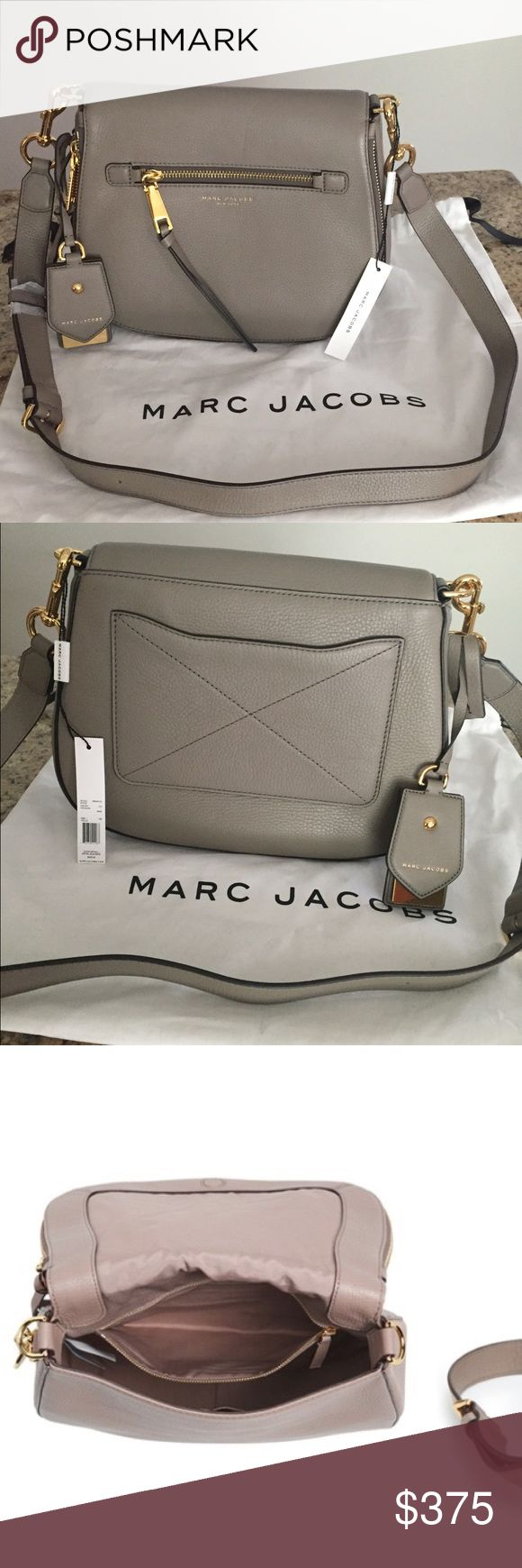 NWT Marc Jacobs Recruit saddle leather bag Color - mink. Retail $450 (still full price on Marc Jacobs website). New with tags. For more details please see last image. No tax (saves approx $40). Dust bag included. Marc Jacobs Bags Crossbody Bags