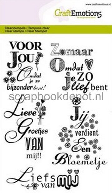 CraftEmotions clearstamps A6 - Lieve groetjes van mij (NL)
