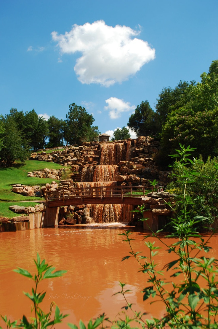 Wichita Falls.. A.K.A. Willy Wonka's Chocolate Water fall