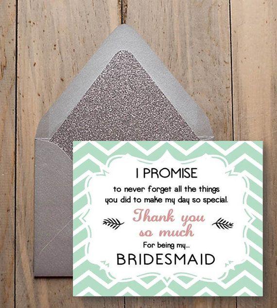 Bridesmaid thank you - for being my bridesmaid - bridesmaid thank you gift - Chevron style -  Digital Wedding File - Diy Wedding on Etsy, £2.50