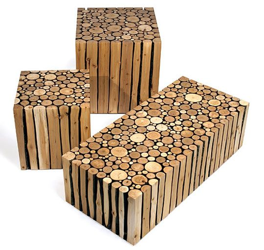 Yes please. Stacks of timber into tables.