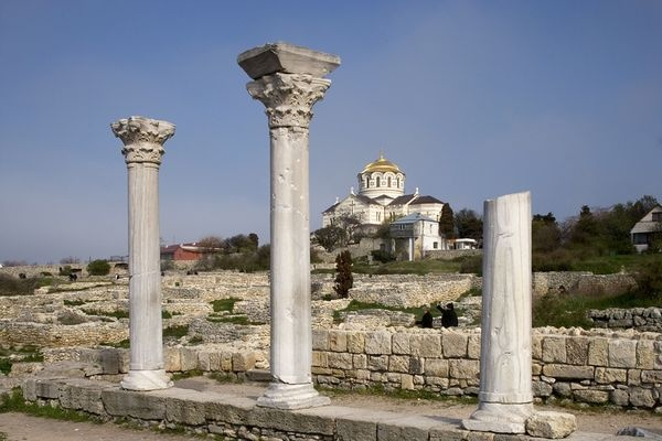 """Chersonesos is now being """"loved to death"""" due to unmanaged tourism and the pressures of urban development."""