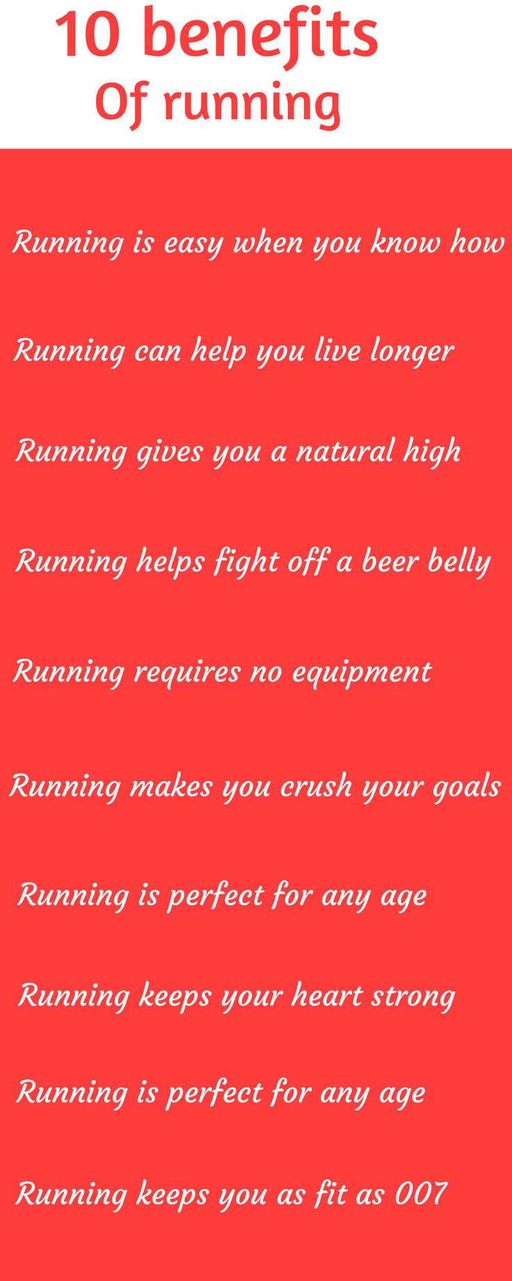 Running is one of the simplest methods of re- gaining your fitness. The benefits are endless and here is just 10 of them.