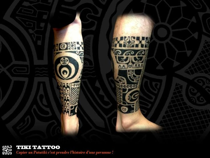 Marquesan tattoo by Tiki Tattoo Nimes