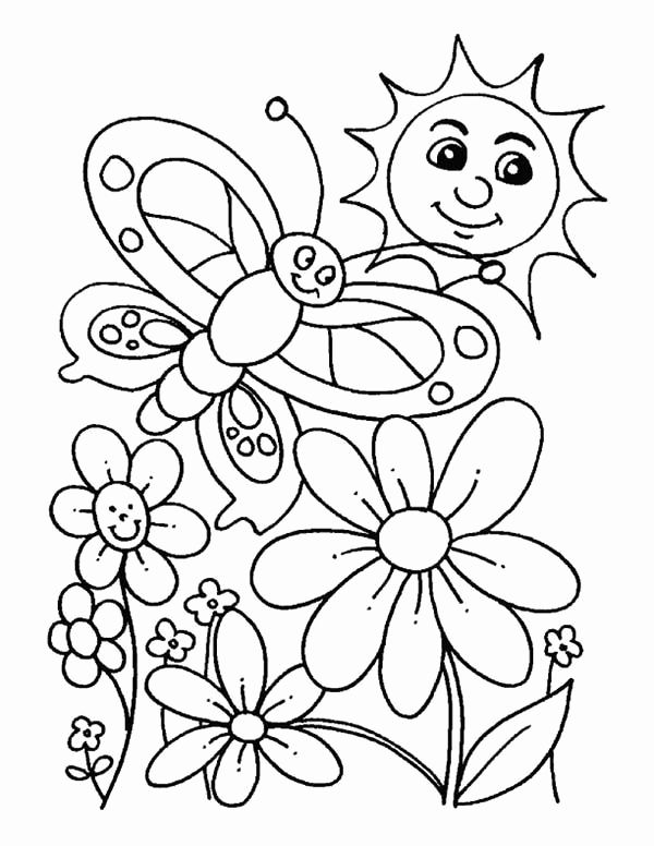 Spring Pictures Coloring Pages Awesome Everybody Is Happy When