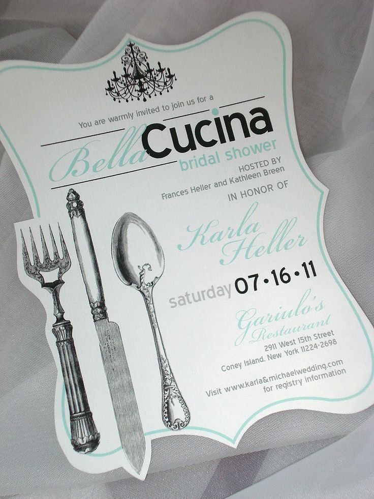 recipe themed bridal shower invitation wording%0A BellaCucina Hand Cut Bridal Shower Invitation    Sample by envymarketing on  Etsy
