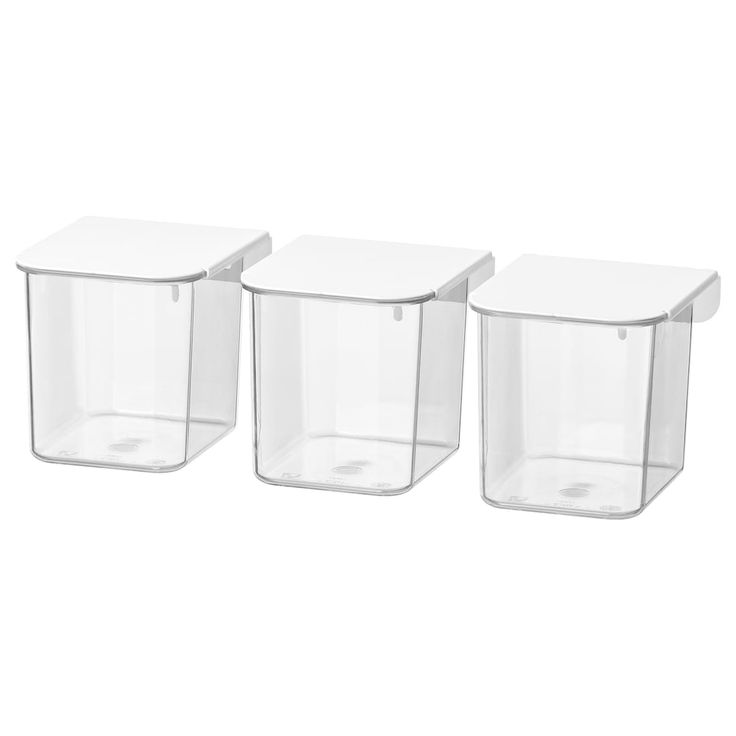 SKÅDIS Container with lid, white