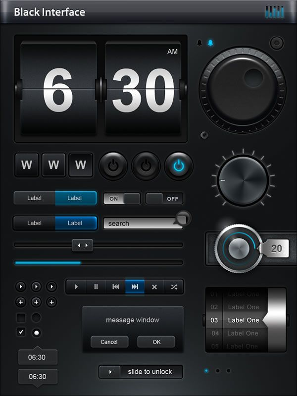 Stunning Knobs, Sliders, and LCD Style Displays