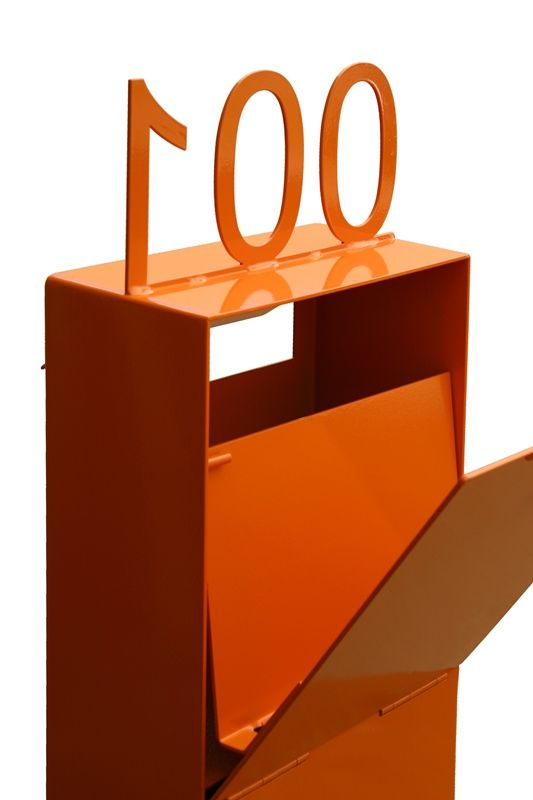 Custom powder coated Ned Kelly letterbox by www.entanglements.com.au