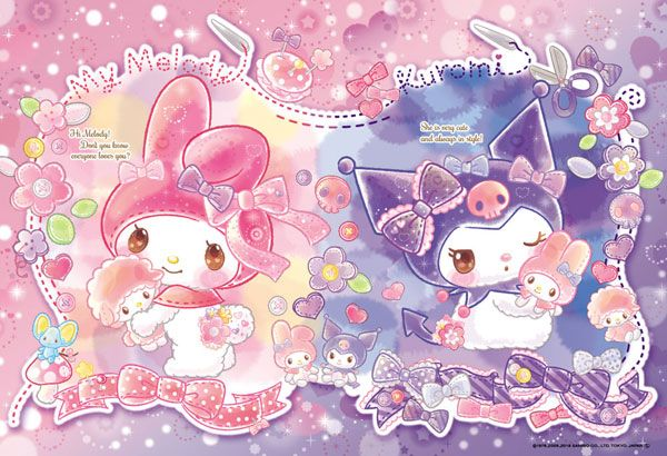 My Melody and Kuromi | My melody wallpaper, Cute cartoon ...