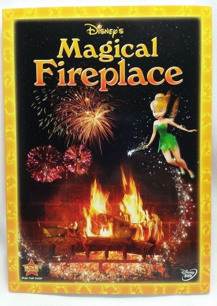 Disney's Magical Fireplace DVD NEW SEALED w/ Cover Tinkerbell Virtual Fireplace