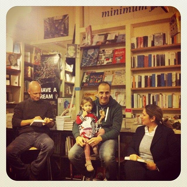 Alessandro Garigliano, Giorgio Vasta e Francesca Serafini alla libreria minimum fax di Roma.