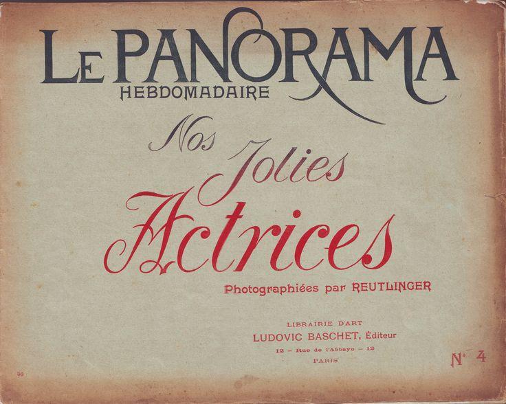REUTLINGER (il.)- Nos jolies actrices 4_Ludovic Baschet (Paris), s.d. (Le Panorama  Hebdomadaire)   by Performing Arts / Artes Escénicas