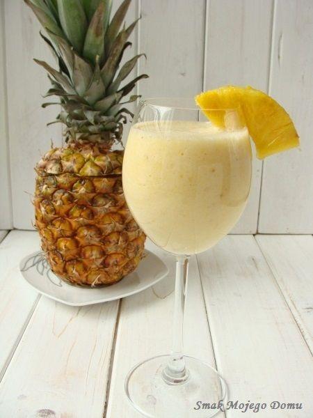 Smak Mojego Domu: Mleczny koktajl z ananasem i bananem