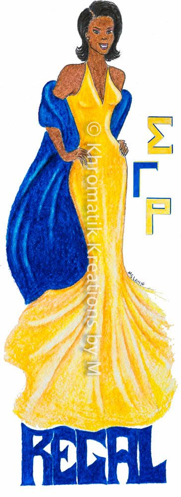 Regal Soror Art Print (Sigma Gamma Rho)