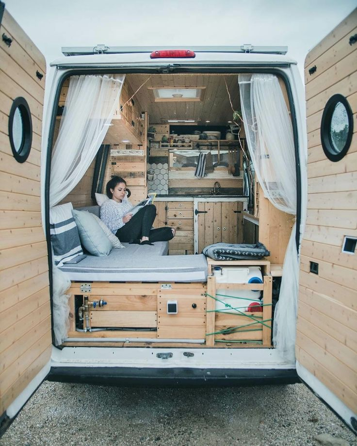 Good insight into what it's like to live the #vanlife This couple discusses how they researched building out their campervan conversion, how the construction process went, and what the hardest part of a DIY van build was.