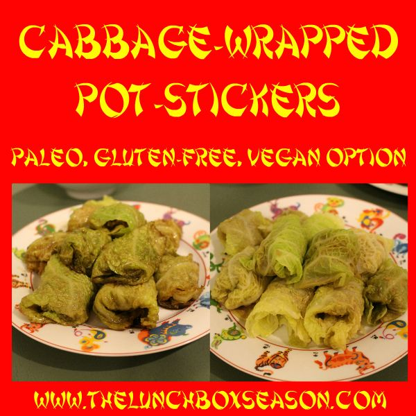 """Year of the Horse: A Lighter Chinese New Year Feast, Paleo Cabbage-Wrapped """"Pot-Stickers""""  - THE LUNCHBOX SEASON (SL-use coconut aminos)"""