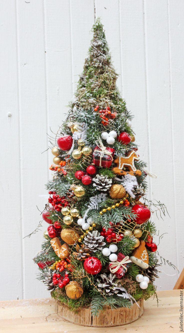 Купить Елочка из детства - зеленый, настольная елка, украшение дома, подарок, Новый Год, рождество