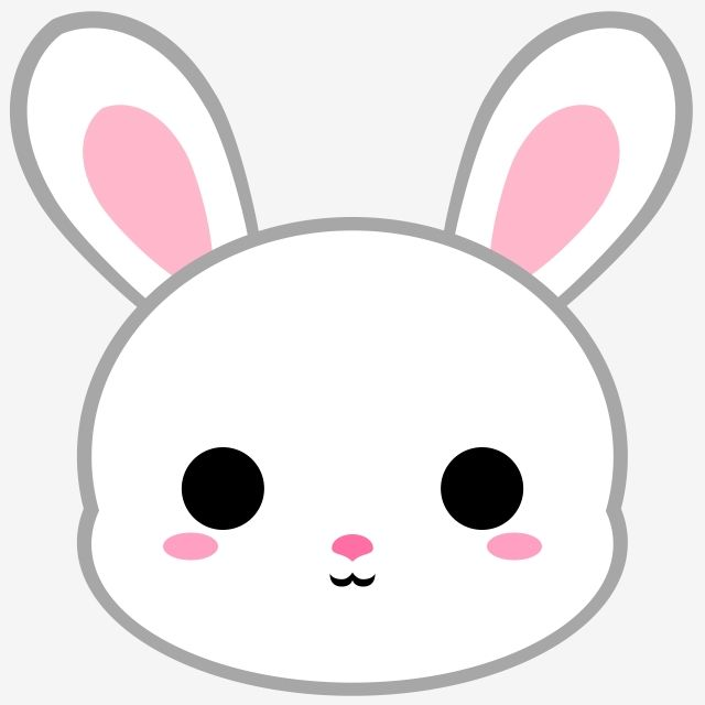 Cartoon White Bunny Head Bunny Rabbit Animal Png Transparent