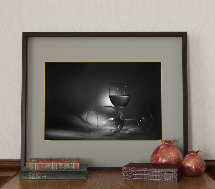 Stemware wall art, Wall decor, Dark poster , Photocollage, wall decor, Ptoto poster by BumBon on Etsy
