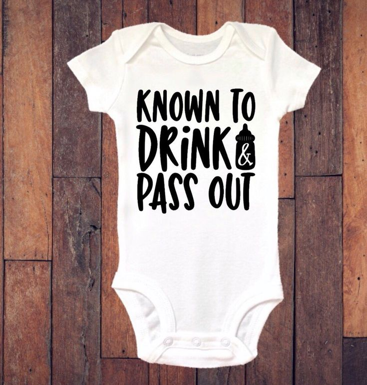 Baby onesie ® , Funny onesie ®, Known To Drink And Pass Out, Bodysuit, Baby Boy, Baby Girl, Baby thes
