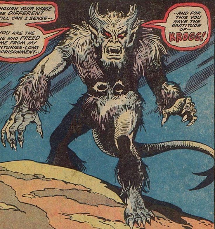 krogg demon earth616 werewolves comic and jack kirby