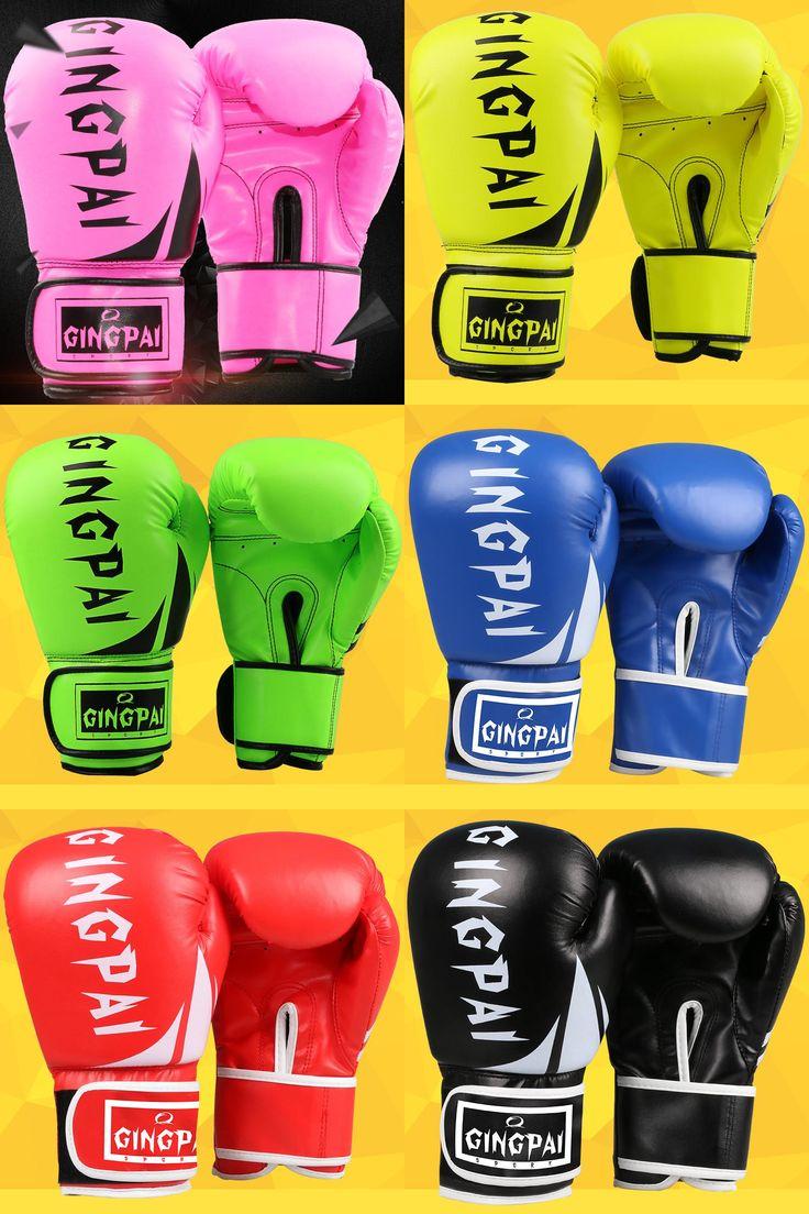 [Visit to Buy] 2016 Newest Pink MMA Boxing Gloves Men/Women Sandbag/Taekwondo/Muay Thai/Fight/Boxe De Luva Training Sports Guantes De Boxeo #Advertisement