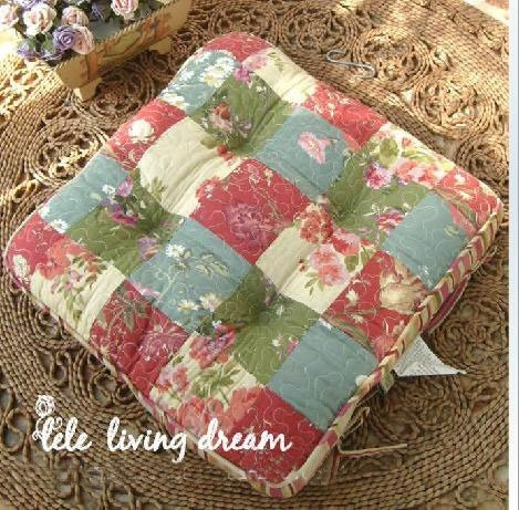 Shabby And Vintage Style Patchwork/quilted Soft Chair Pad W/filling By  Victoriau0027s Deco