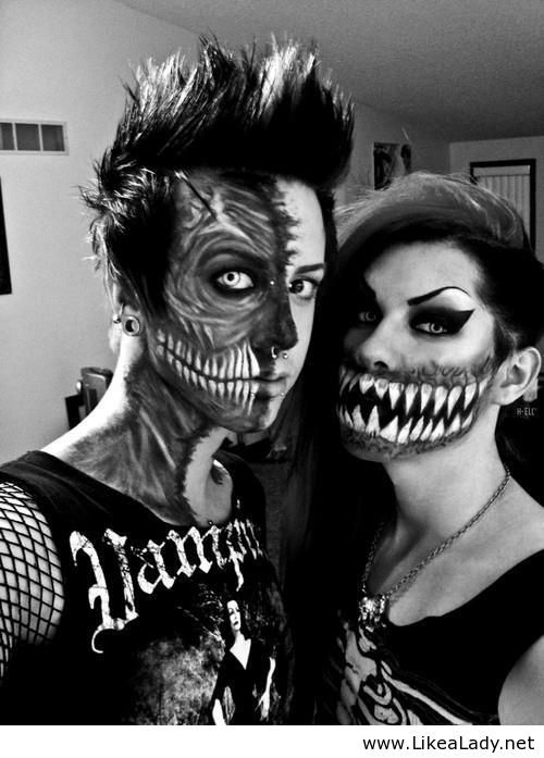 Halloween makeup... and the cool couple award goes to