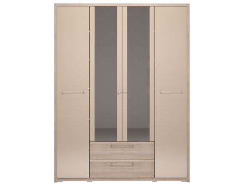 Шкаф 4-х дверный с ящиком и зеркалом мод.9 Вива