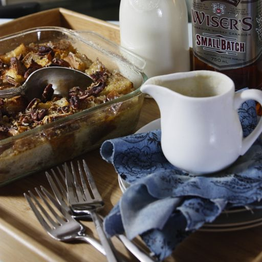 Copycat Pioneer Woman Bread Pudding with Whiskey Sauce | This boozy twist on bread pudding will have you baking just like the Pioneer Woman!