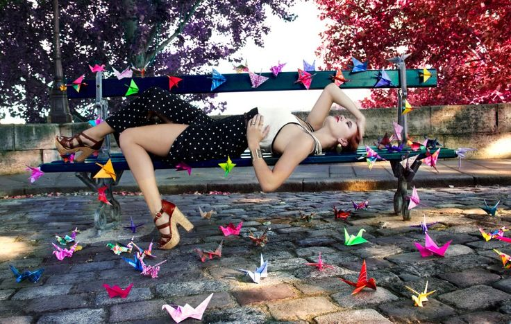 Origami shoot with Chrisie in Paris