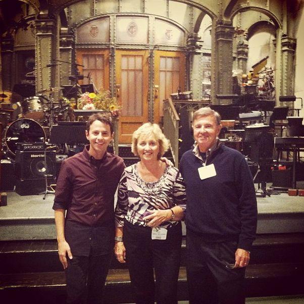 Mom and Dad Milhiser at first show#snl - John Milhiser on Instagram http://instagram.com/johnmilhiser