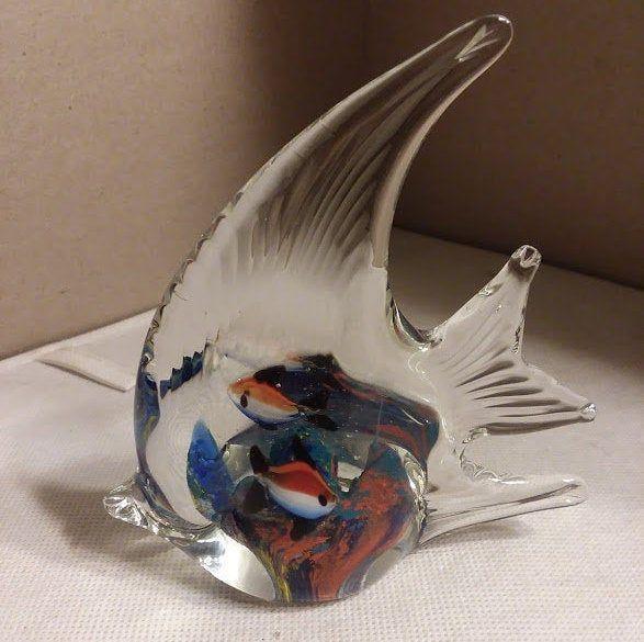 Glass fish collector Glass art fish paperweight Murano