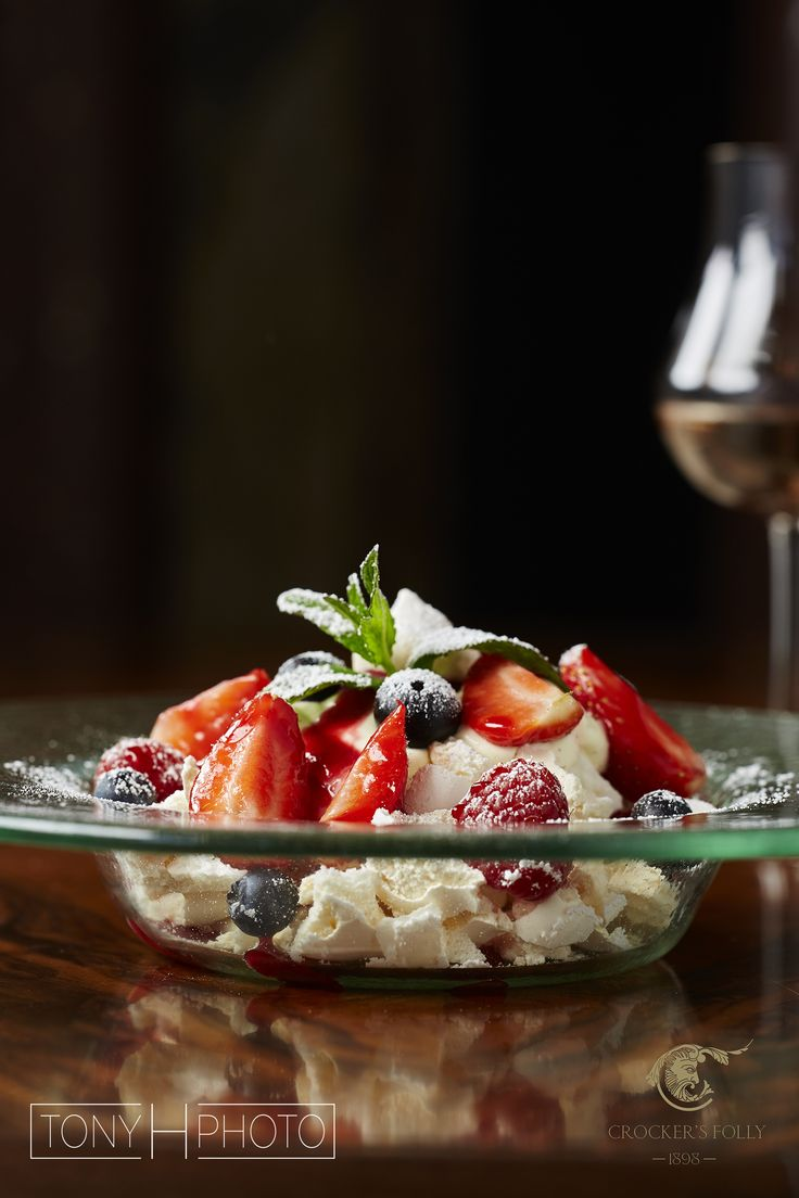 Eton mess dessert shot at Crockers Folly for Lebanese restaurant chain Maroush