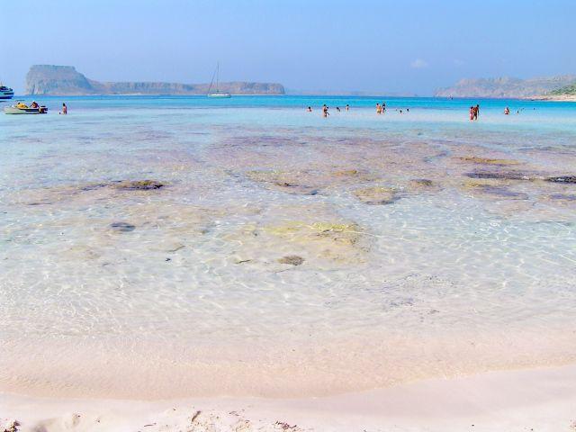 Pink beach in Crete