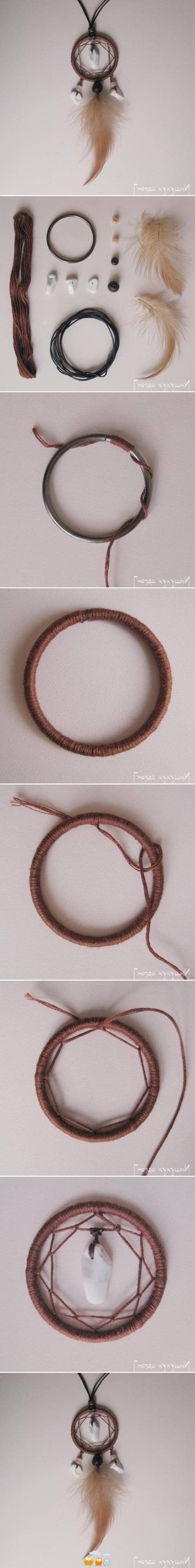 DIY Dream Catcher Necklace