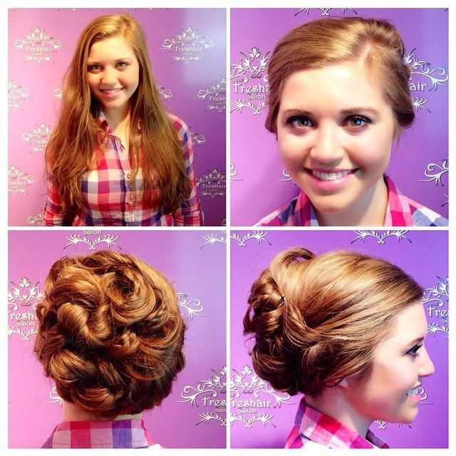Love Joy-Anna's wedding hairstyle. It's cute, simple and casual:)