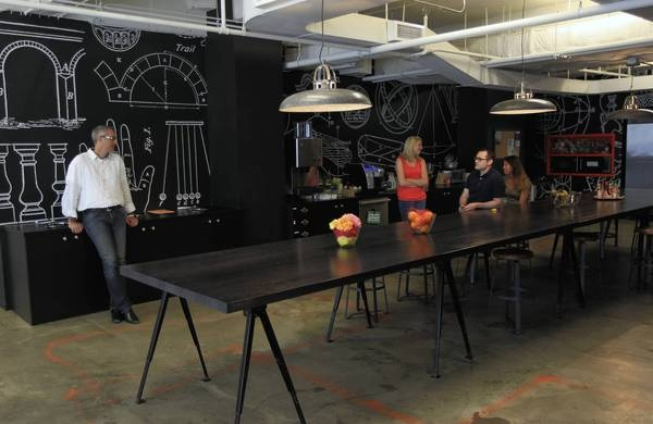 #chalkboardpaint in office spaces - obsessed