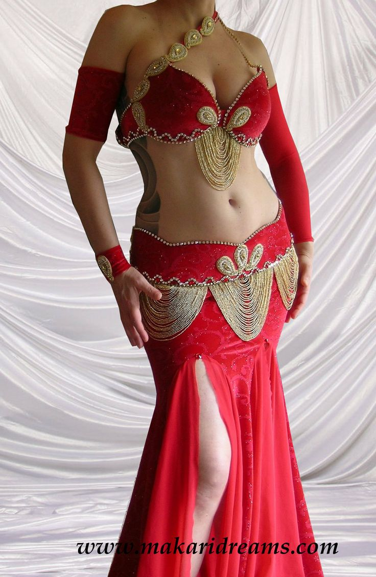 http://www.makaridreams.com Very classic red belly dance ...