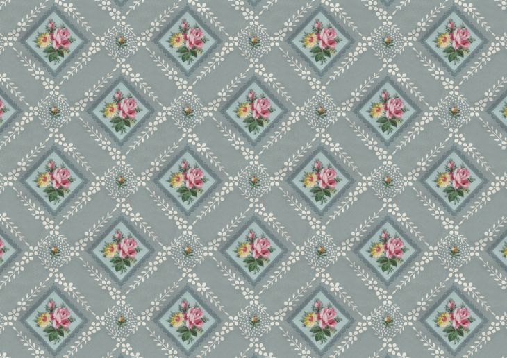 Wings of Whimsy: Blue Vintage Floral Wallpaper - free for personal use #vintage #edwardian #victorian