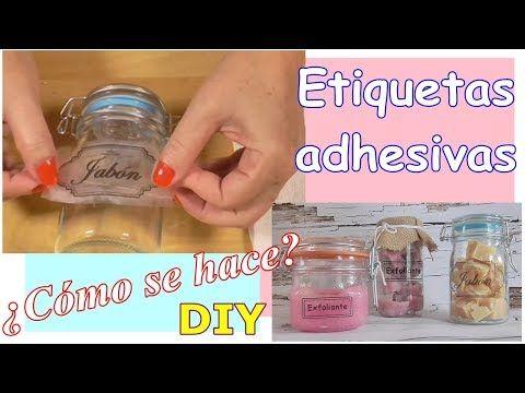 Como hacer tus propias Etiquetas Adhesivas. Fácil y rápido. Método casero. DIY - YouTube