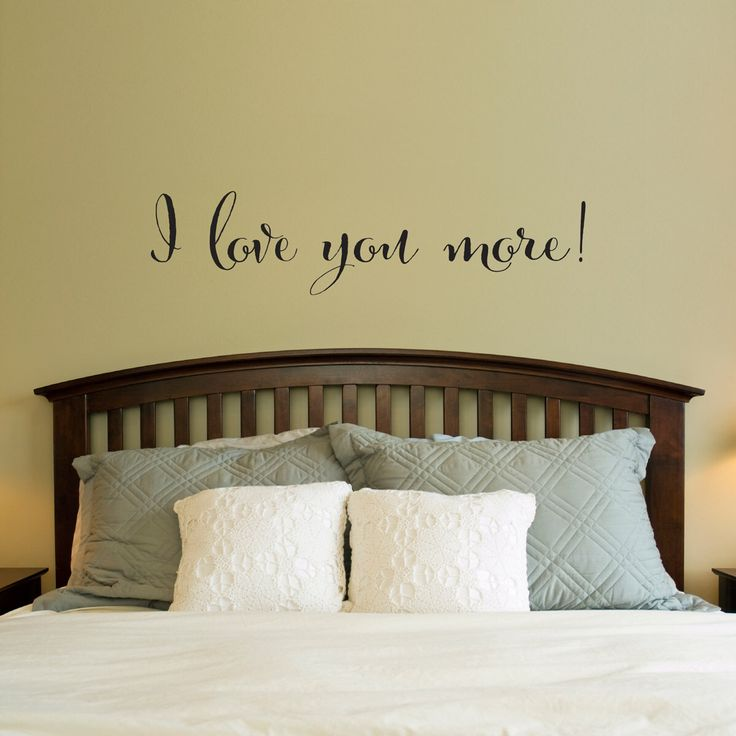 love wall decal i love you more decal bedroom wall art large by