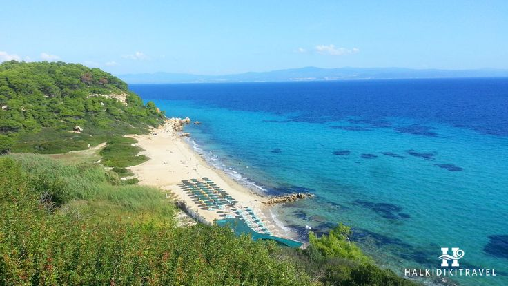 #Nea #Fokaia #beach in #Halkidiki. Visit www.halkidikitravel.com for more info. #HalkidikiTravel #travel #Greece