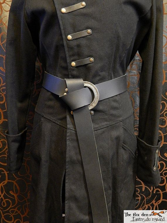 Long belt with a 3'' celtic ring and 2'' wide high quality 9oz leather belt. Viking, LARP.
